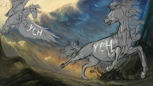 DETAILED YCH OPEN - Horse or MLP version by Dalgeor