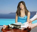 Jennifer Garner hairbrush tickle
