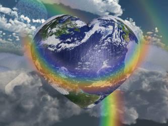 Rainbow Hugs-Earth Day by BrokenWings3D