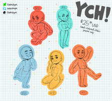 [ OPEN ] 5 YCH cheebs by ElectricType