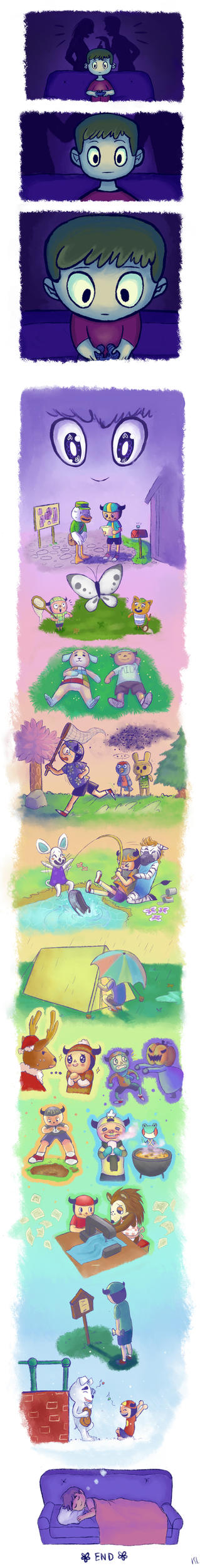 Animal Crossing- Childhood memories: Growing! by cocoaowls
