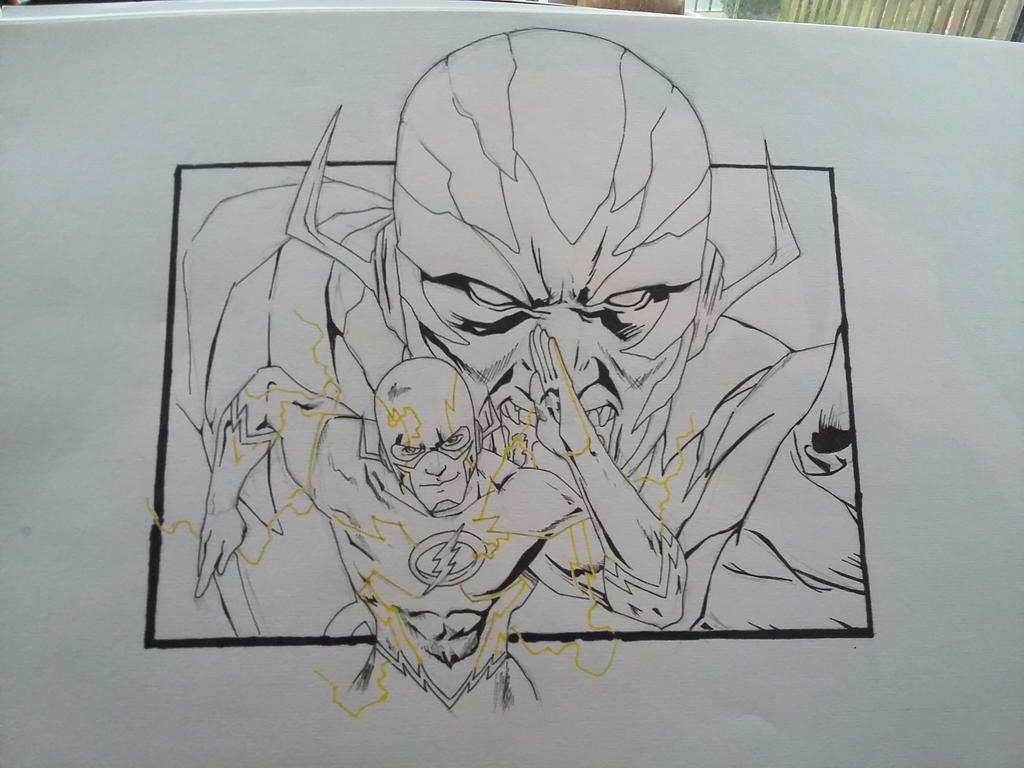 The Flash Line Art : The flash and reverse daniel west by darkjay on deviantart