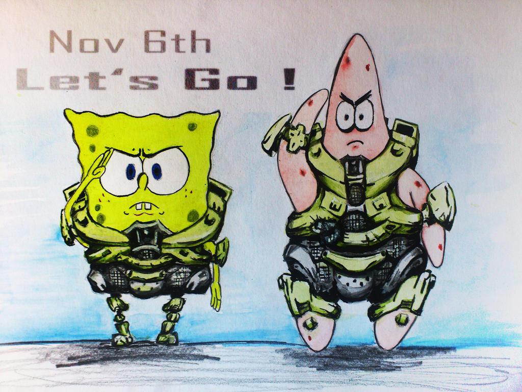 Bitches Be Like Spongebob Spongebob and patrick - halo