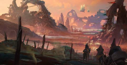 Alien planet by kristmiha