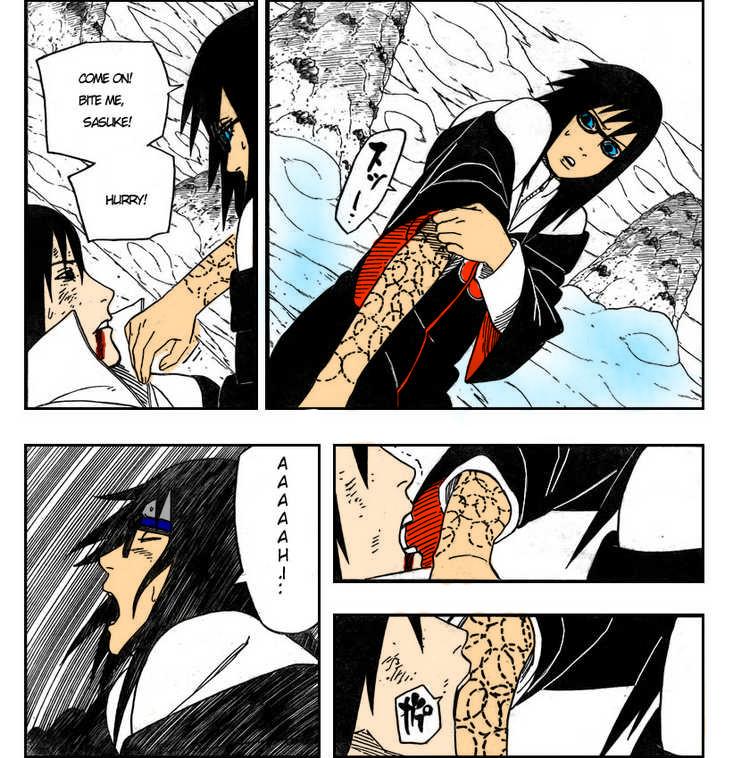 sasuke bites karinxD by saruto-uzumaki