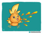 Torchic used Ember!