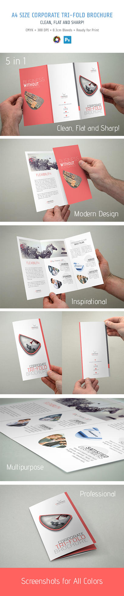Modern Trifold Brochure by bakirci