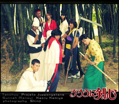Kaoru Kamiya and Group Tenchuu by darktenabre