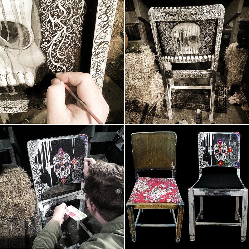 Skull Chair by VexingArt