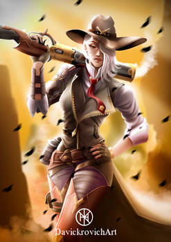Ashe from Overwatch fan art / Commission