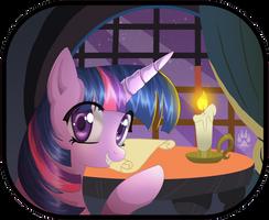 Animu Twilight Sparkle by NabbieKitty