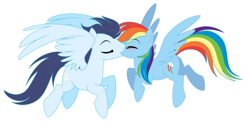 Soarin' and Dash by NabbieKitty