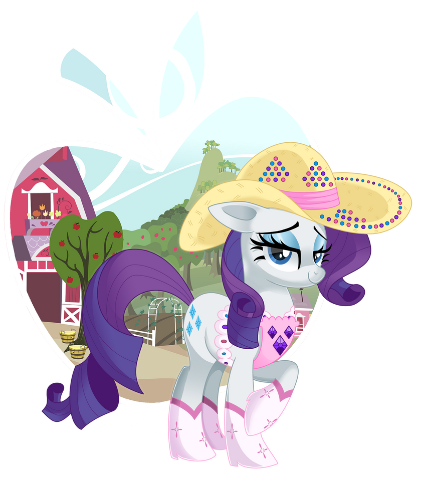 rarity cowgirl by nabbiekitty on deviantart