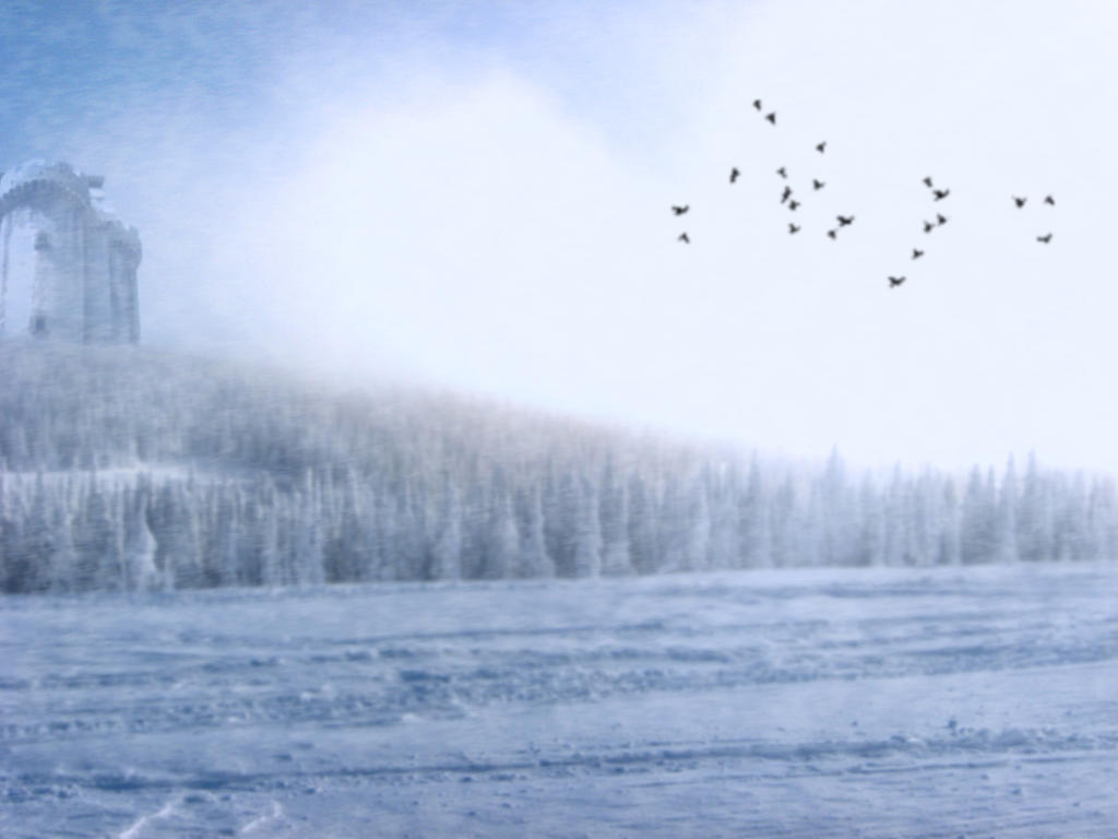 Winter Afternoon - Premade Background by la-voisin