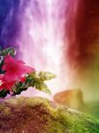Fairy Falls - Premade Background by la-voisin