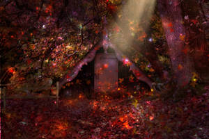 Forest Hideaway - Premade Background by la-voisin