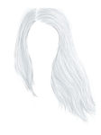 Painted White Hair - PNG