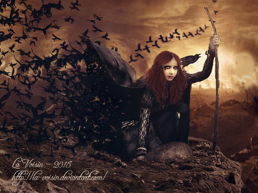 Morrigan - Goddess of War by la-voisin