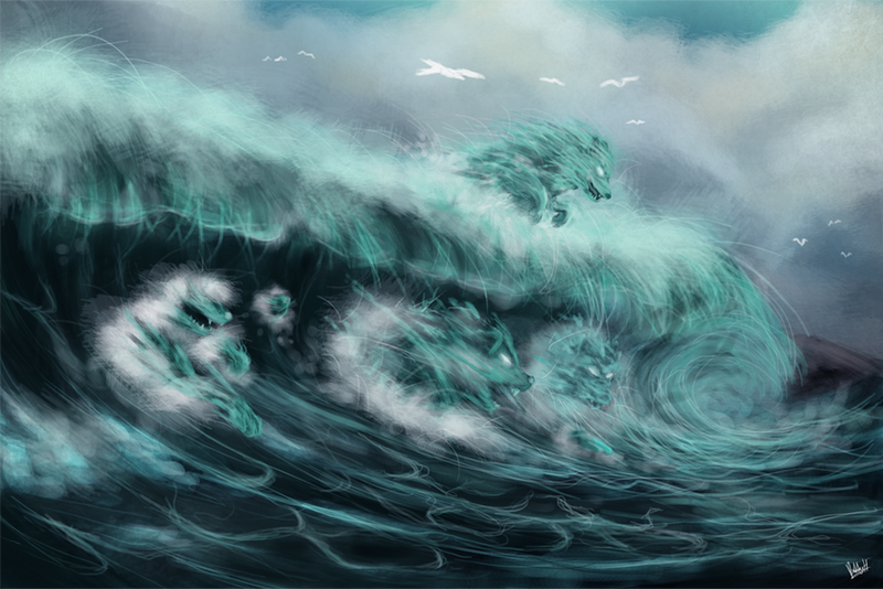 The Raging Sea Wolfs by bobbyhrty