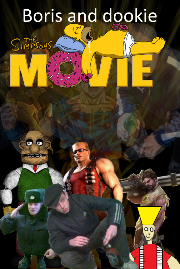 Boris and dookie the movie cover art by Bugnotnotthegreat