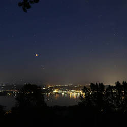 Night view of Morat, Switzerland by PicaFox