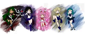 Chibi Outer Senshi by EternalGraveDancer
