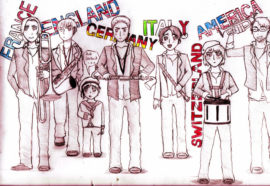 Marching Band Drawing Hetalia Aph Marching Band by