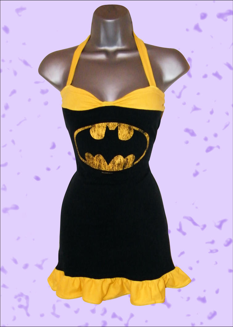 Batman T Shirt Dress Up-Cycle by Lolanova