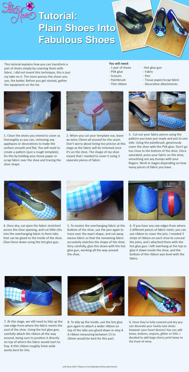 Shoe Covering Tutorial Pin Up Style by Lolanova