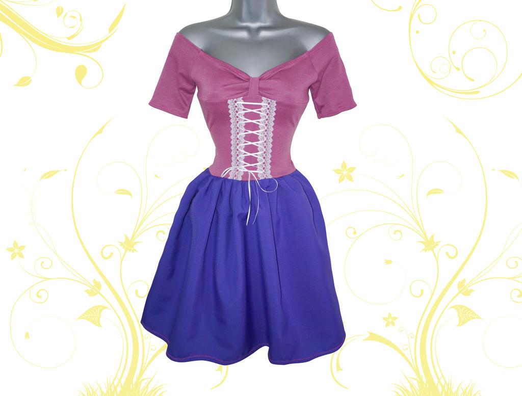 Tangled Rapunzel Style Dress by Lolanova