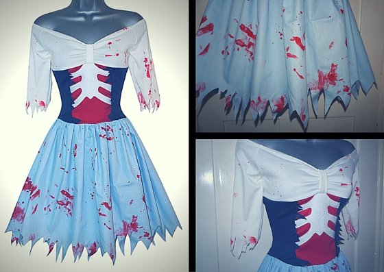 Zombie Ariel Blue Land Dress by Lolanova