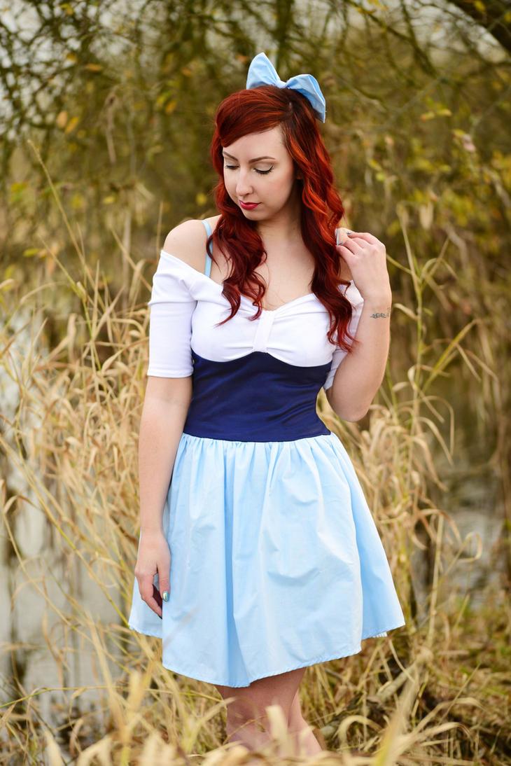 Ariel Blue Town Dress by Lolanova