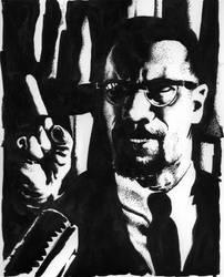 Malcolm X Portrait by Alec-M