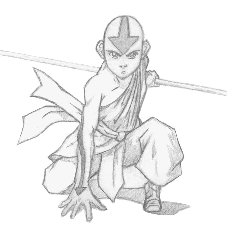 Avatar Aang Drawings: Avatar Aang By TaylorJSomeday On DeviantArt