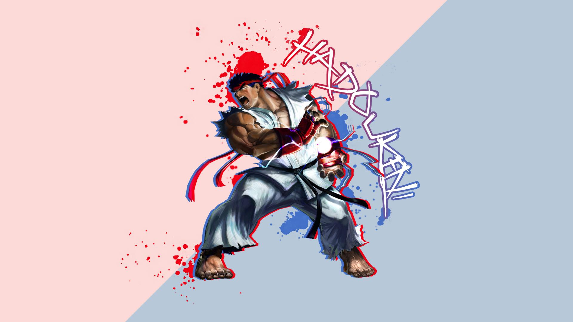 Ryu - Hadouken Wallpaper by Risurp on DeviantArt