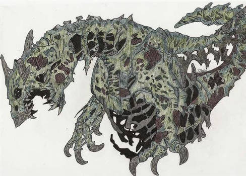 Zombie Dragon - Colour