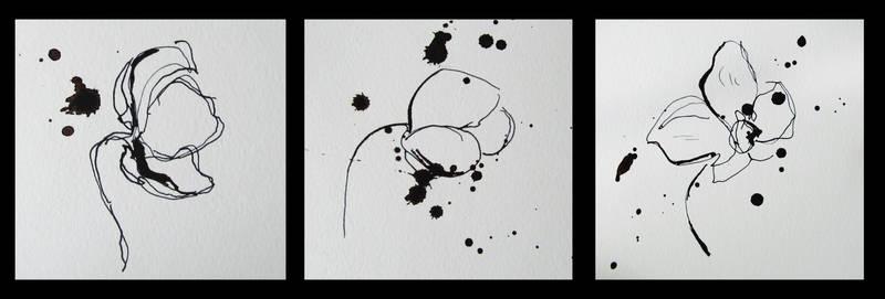 Triptych. Flowers