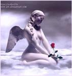 A rose in the sky