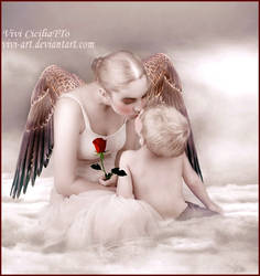 Mother angel friend by vivi-art