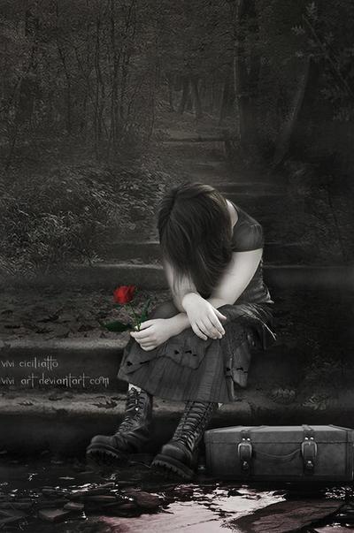 Poor sad girl by vivi-art on DeviantArt