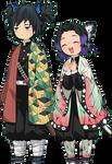 Tomioka and Shinobu Render