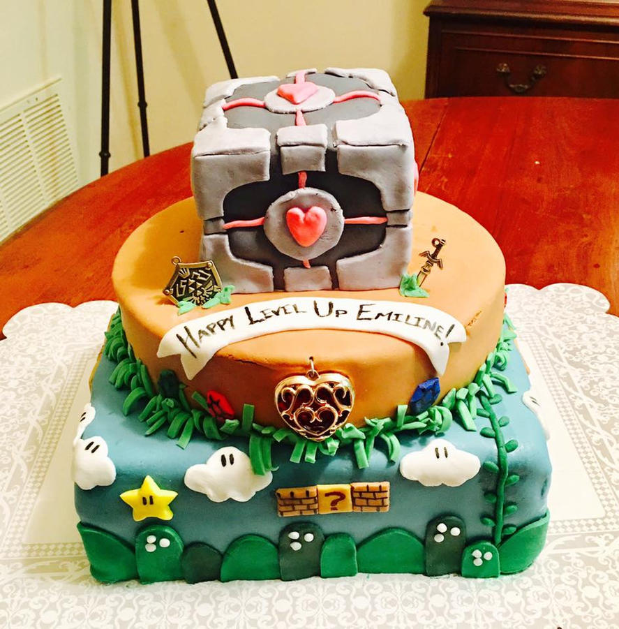 Level Up Birthday Cake By Redshotronin On Deviantart
