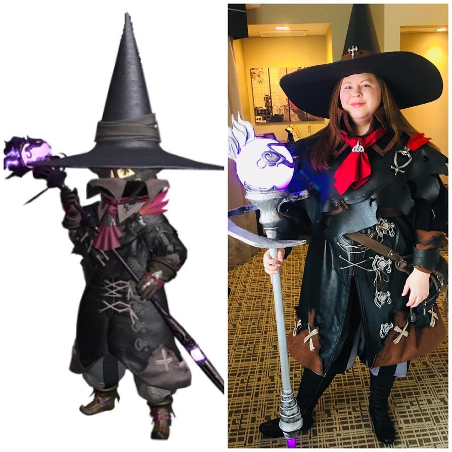 black mage final fantasy 14 by redshotronin