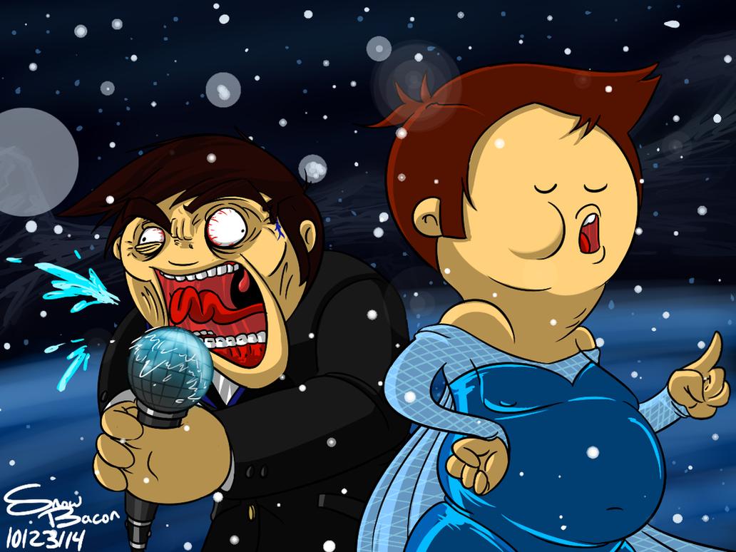 [Fan Art] Let It Out - OneyNG N' Psychicpebbles by Snowbacon