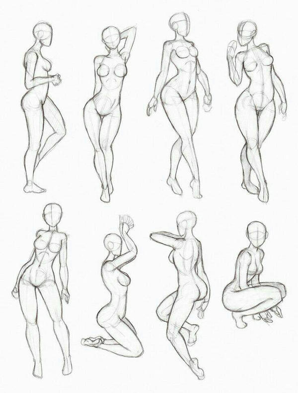 Body Shape Positions By Themadhattwr On Deviantart