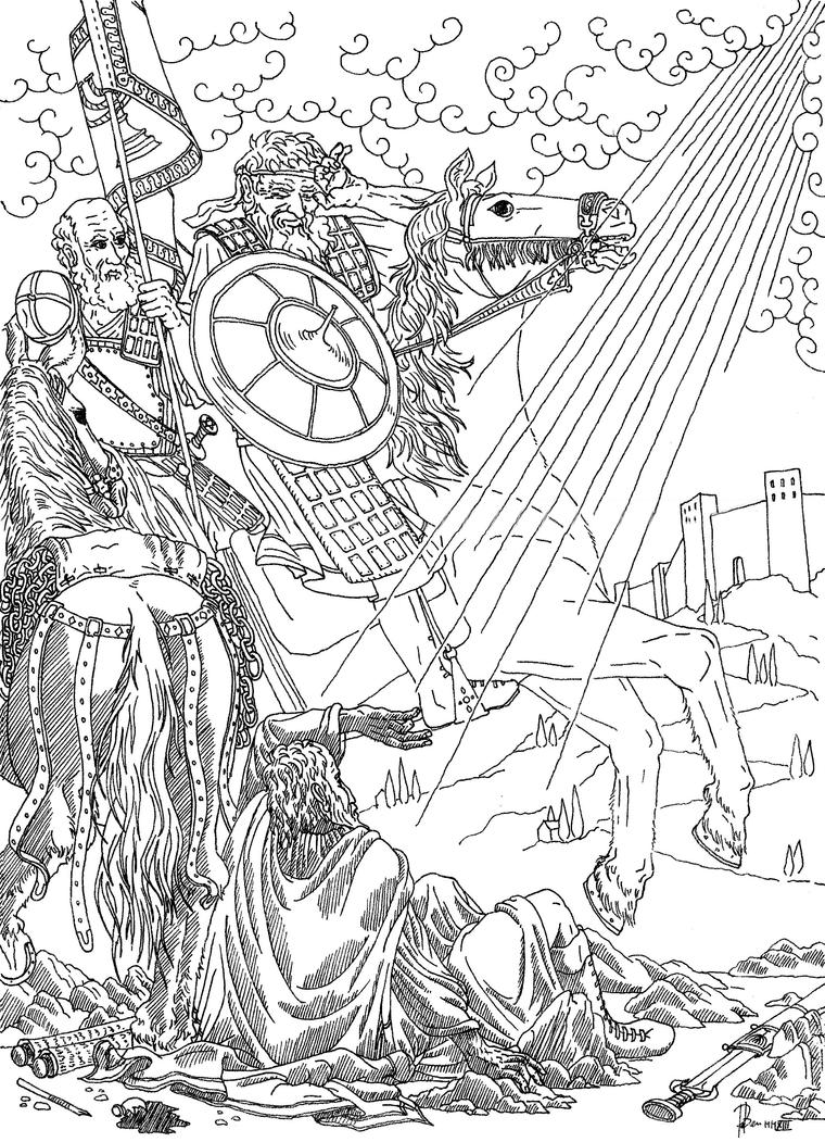 Saint paul on the road to damascus by padraicbenedictus on for Paul on damascus road coloring page