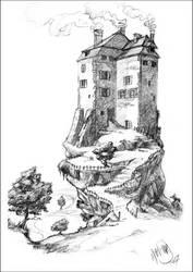 Landscape 1: House on a rock