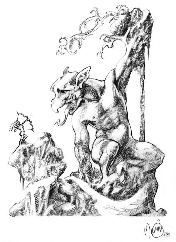 Forgotten Melody 1 5 Gargoyle By Mathias Art