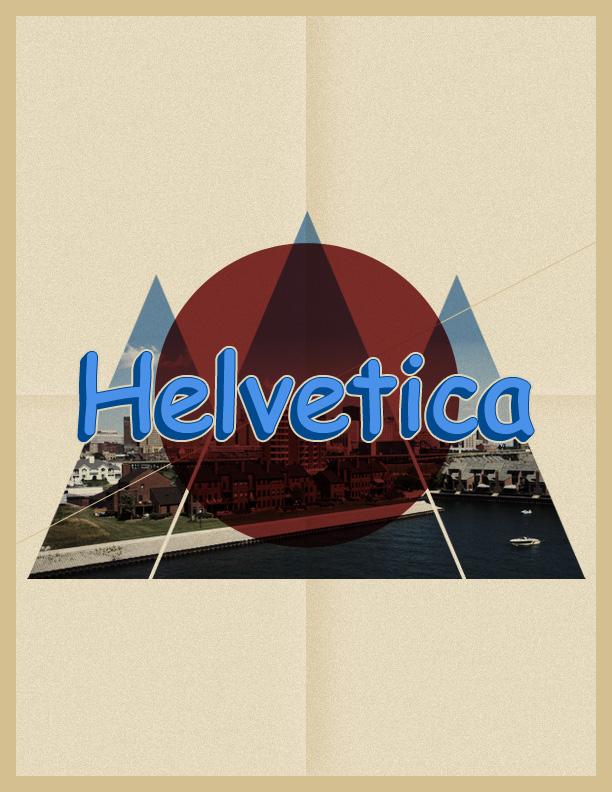 Helvetica x Comic Sans by lawrencealba