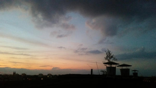 sunset river by snake6630